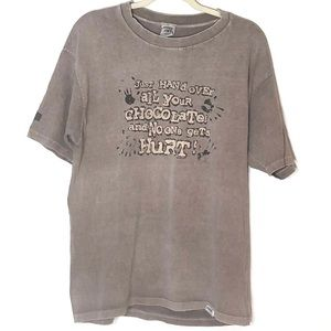 Crazy shirt chocolate dyed graphic tee brown